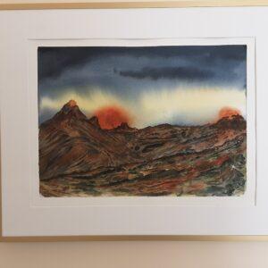 Vulkan naturen på spil 40x50